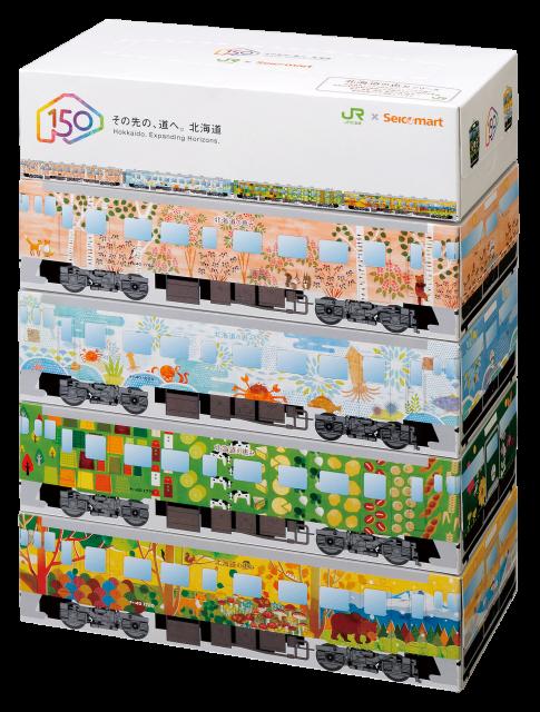 北海道150年ティッシュ箱